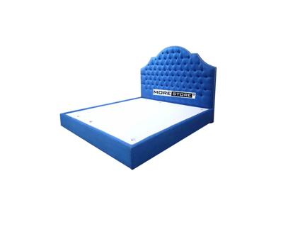 Picture of Giường ngủ tân cổ điển bọc nỉ xanh ấn tượng