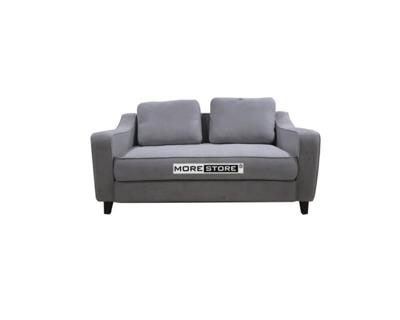 Picture of Sofa bọc nỉ xám hiện đại với đường cong tay ghế cách điệu