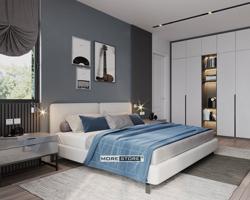 Picture of Giường ngủ bọc nỉ phong cách hiện đại