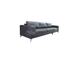 Picture of Mẫu sofa văng bọc da cao cấp màu đen đầy sang trọng